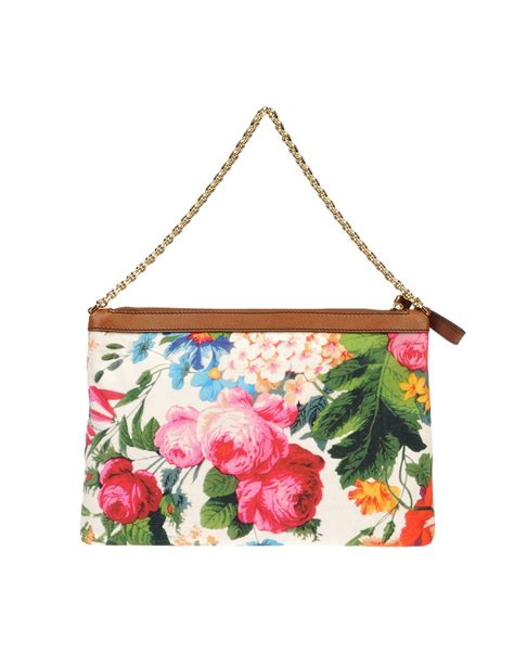 Dolce Gabbana Medium Fabric Bag In Ivory by Dolce Gabbana Medium Fabric Bag In Floral Orange Lyst