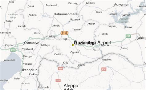 gaziantep map gaziantep airport weather station record historical