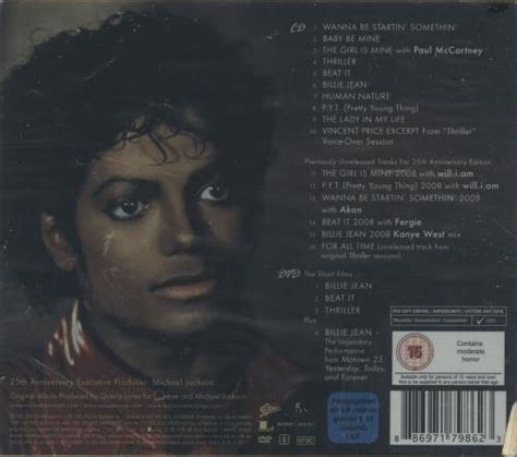 Thriller 25th Anniversary Edition Album Cover Michael Jackson Works With Akon Fergie William Kanye West For 212 Re Release by Michael Jackson Thriller 25th Anniversary Edition