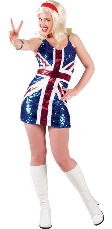 90s fancy dress ebay uk 1990s sequin british flag ladies fancy dress 90s english