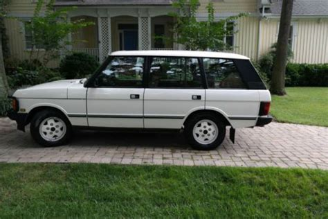 sell used 1993 land rover range rover lwb mosswood green 157k air suspension calif car in san sell used 1993 land rover range rover classic lwb in white stone virginia united states for