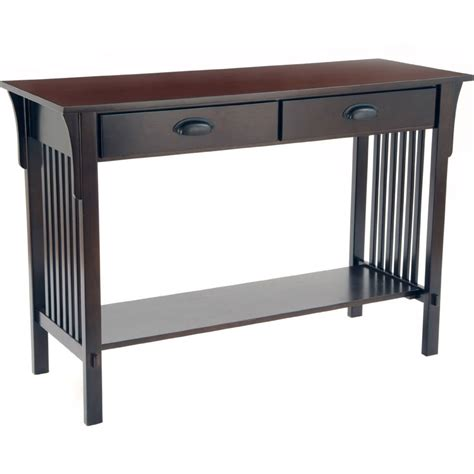 Mission Style Sofa Table In Accent Tables Mission Sofa Table