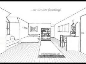 one point perspective bedroom one point perspective room tutorial youtube
