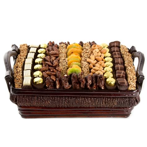 fruit and nut baskets large chocolate dried fruit and nut gift basket oh nuts 174