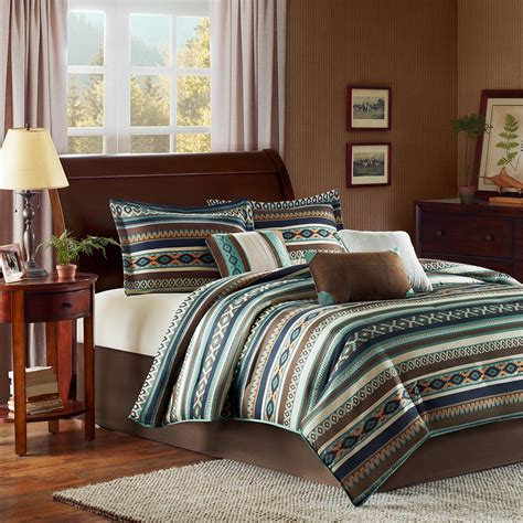southwest style bedding beau 7 piece cal king comforter set