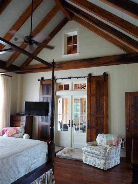 indoor barn doors Bedroom Farmhouse with barn door barn