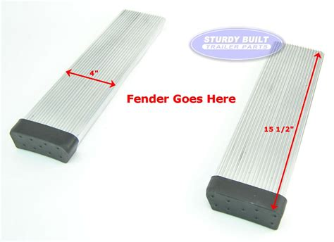 aluminum boat trailer round fender mount and step pad pair aluminum boat trailer round fender mount and step pad
