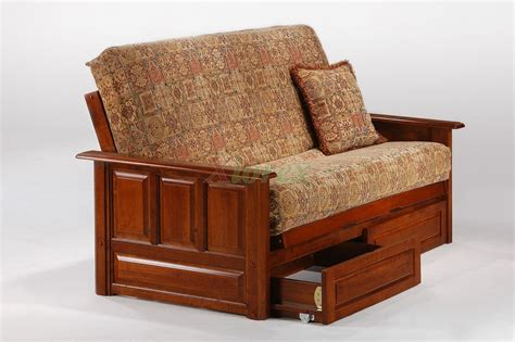 wooden futon with drawers midnight futon night and day midnight wooden futon bed