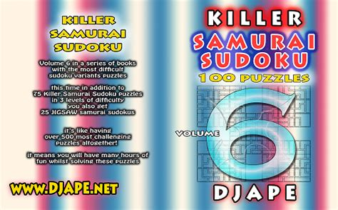 killer books killer samurai sudoku book 6