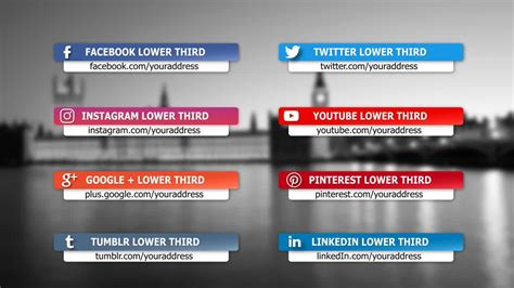 free lower third templates motion social media lower third package after effects templates