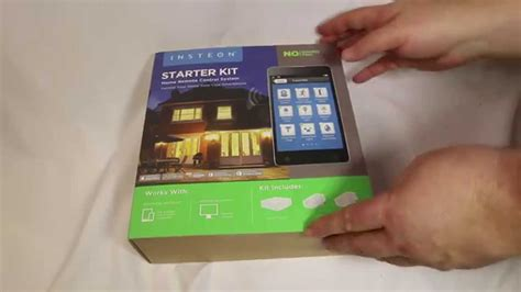 insteon starter kit home remote system unboxing
