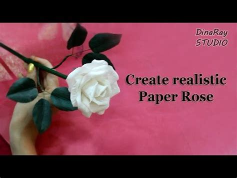 How To Make Realistic Paper Flowers - realistic paper