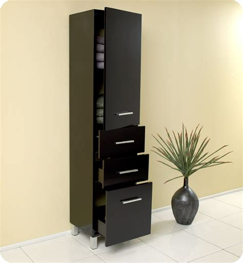 pull out linen cabinet espresso bathroom linen cabinet 3 pull out drawers