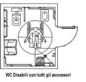 Attraente Piatti Doccia Misure Minime #5: Wc-disabili-con-tutti-gli-accessorei-1.jpg