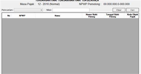 membuat database espt pph 21 membuat dan mencetak bukti potong a1 di aplikasi espt pph 21