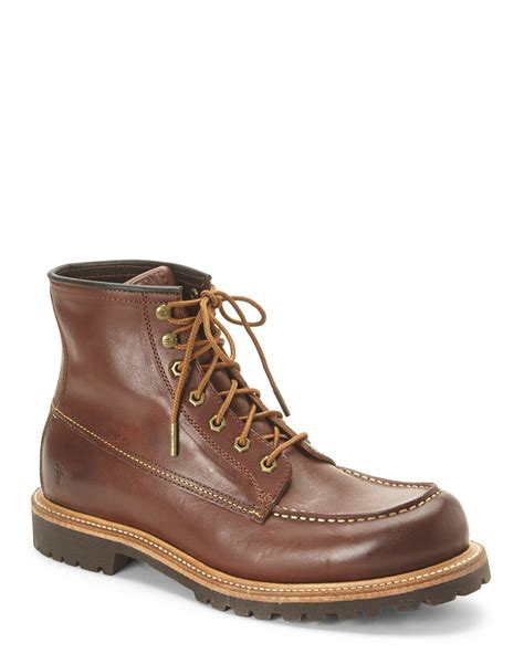 frye lace up boots frye redwood brown dakota mid lace up boots in brown for