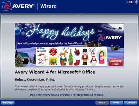 avery templates for microsoft word how to find a template in the avery wizard software for