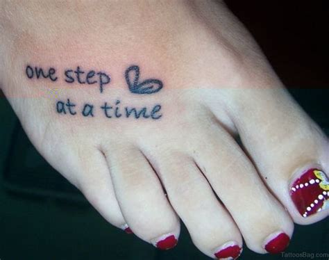 one step at a time tattoo 50 wonderful wording tattoos on foot