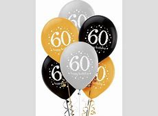 60th Birthday Balloons 6ct - Sparkling Celebration - Party ... Luau Food Ideas For Party