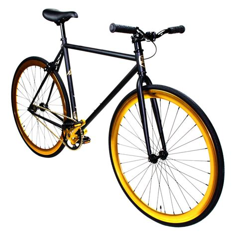 the fixed trilogy fixed series zf bikes 174 zf bkgl 59 fixed series matte black gold bike