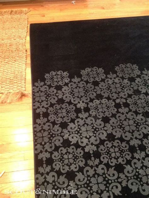 Painting An Area Rug Stenciled Rug Stenciled Floors Pinterest