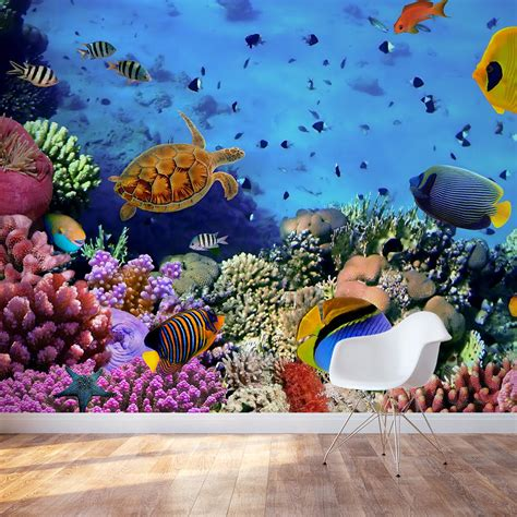 sea wall decal underwater wall decal wallums