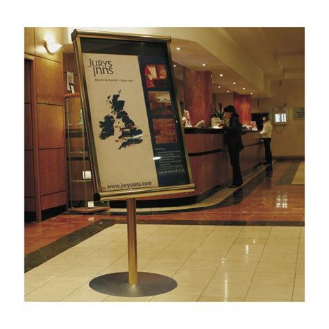 hotel reception information stands discount displays