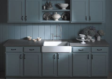 kohler kitchen cabinets ideas excellent kohler whitehaven 36 short apron sink