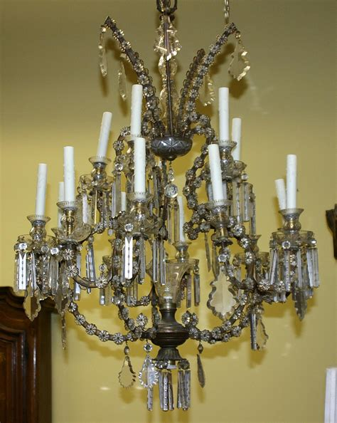 Antique Chandelier Crystals For Sale Venetian Louis Xv Style Gilt Metal And Cut Chandelier For Sale Antiques