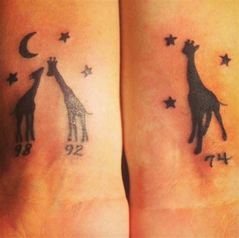 birth year tattoo my giraffe tattoos me and my daughters birth years