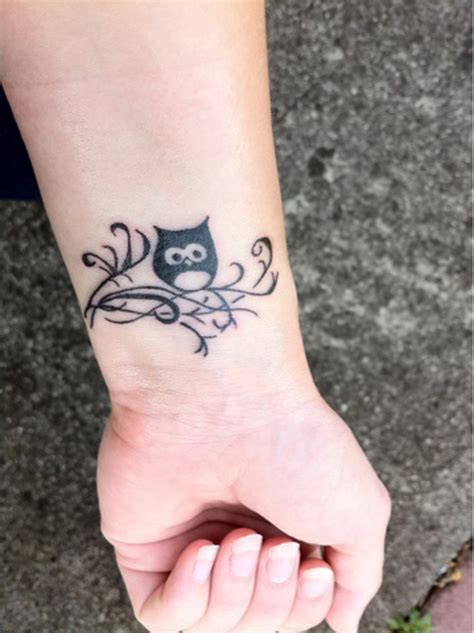 simple owl tattoo design owl tattoos for on wrist designs piercing