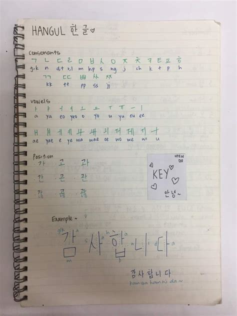 Notes Korea my korean notebook tips korean language amino