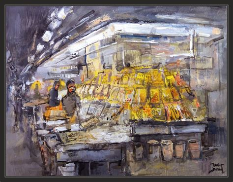 tiendas de cuadros en barcelona ernest descals artista pintor mercat boqueria pintura