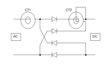 inductor current sensing rc inductor current transformer as sensor can it sense rectified dc current electrical