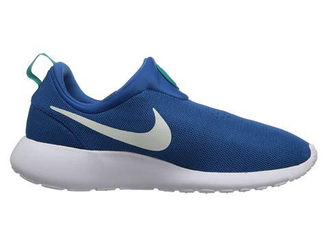 nike roshe run slip on in blue for lyst