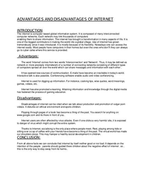 Advantages And Disadvantages Of Computer Essay by Advantages And Disadvantages Of Pdf