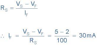 led current limiting resistor equation light emitting diode or the led tutorial