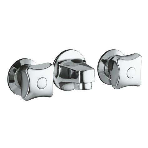 Commercial Sink Faucets Wall Mount by Kohler Triton 2 Handle Wall Mount Commercial Bathroom