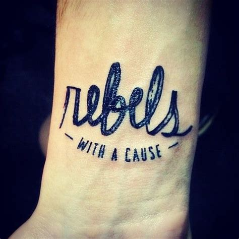 tattoo fonts love rebels with a cause inspiration