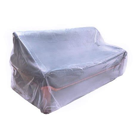 hgmart plastic sofa couch cover  mil extra thick