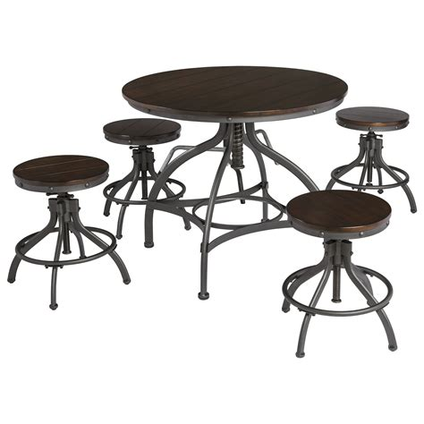 5 Table Set by Adjustable 5 Dining Room Counter Table Set By