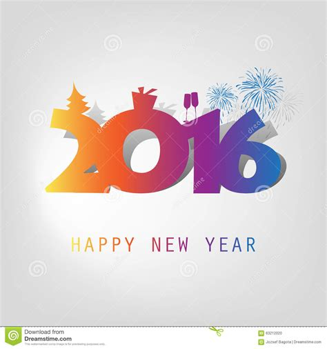 New Year Card Design Template by Best Wishes Abstract Modern Style Happy New Year