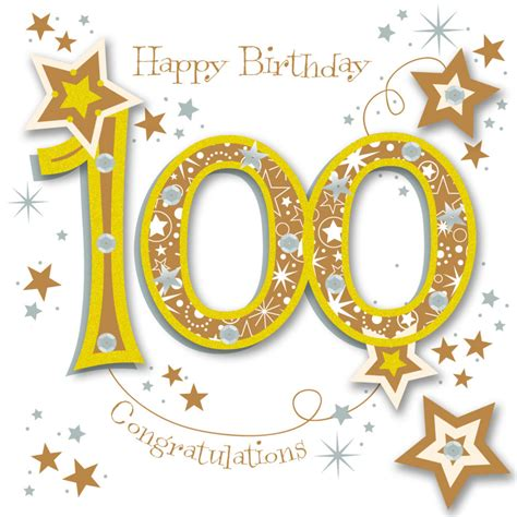 Happy 100th Anniversary Neiman by Happy 100th Birthday Handmade Embellished Greeting Card