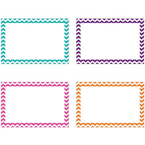 border index cards 3x5 blank 75ct chevron top3552 top
