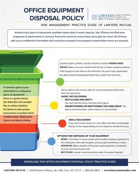 office equipment disposal policy infographic lawyers