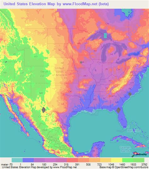 altitude map of usa us elevation and elevation maps of cities topographic map