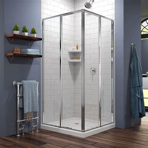 C Shower Enclosure by Dreamline Cornerview 34 1 2 In X 72 In Framed Corner