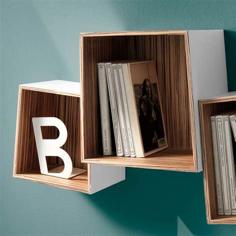 mensole cubi set di 3 cubi mensola triade in legno mdf bianco opaco