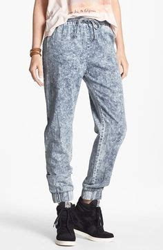 Reiko Jogger michael denim tencel drawstring pant in chambray drawstring