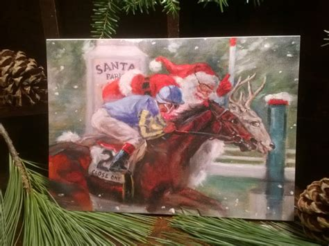 Race Track Gift Card - horse racing fan holiday gift guide 2015